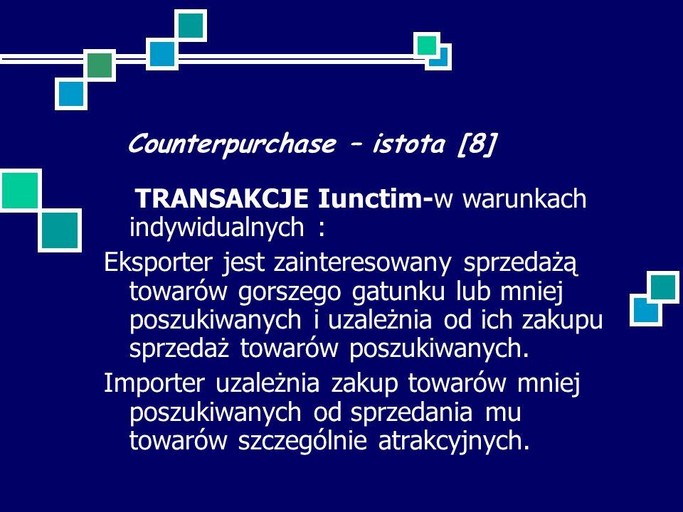 Counterpurchase – istota [8]